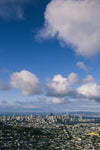 blue sky and clouds over san francisco
