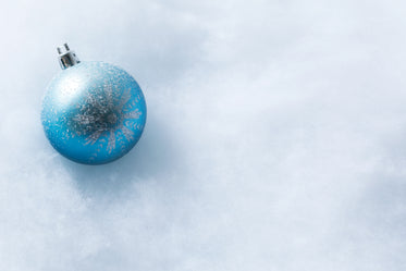 Browse Free HD Images of Blue Snowflake Christmas Ornament