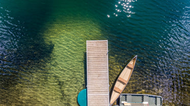boats dock from above