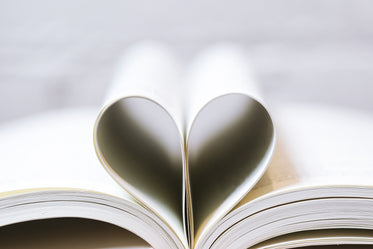 book pages as a heart