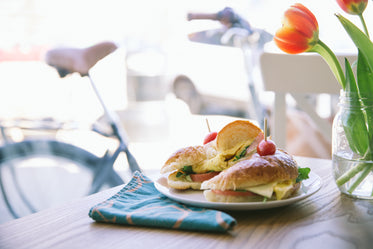 Picture of Breakfast Croissant Sandwich Cafe - Free Stock Photo