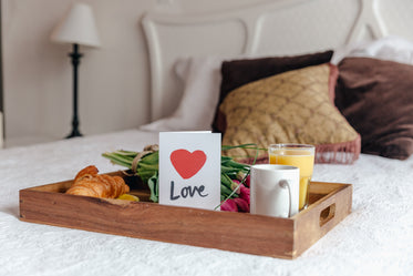 breakfast in bed for loved one
