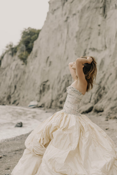 bridal beach photoshoot