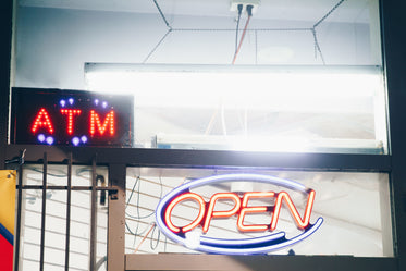 bright open sign