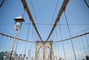 High Res Brooklyn Bridge Looking Up Picture — Free Images