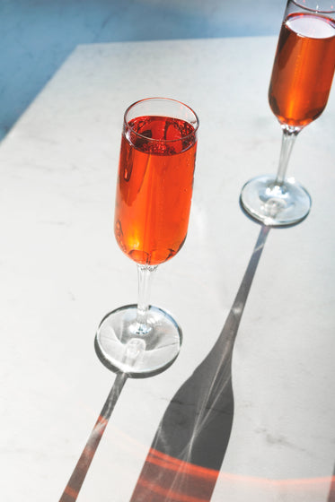 bubbly champagne cocktail