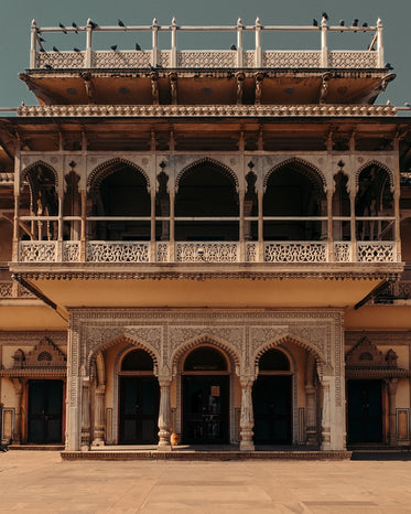 building made of white intricate archways