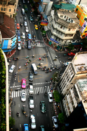 busy thai intersection above