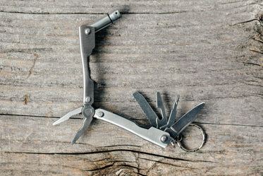 camping pocket multi-functional tool open