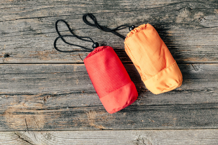 Camping Waterproof Bag Orange And Red Wrapped Up