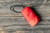 camping waterproof bag red wrapped up