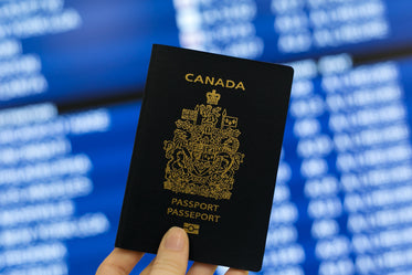 canadian passport in hand