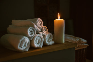 candle lit at spa