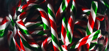 candy cane close up