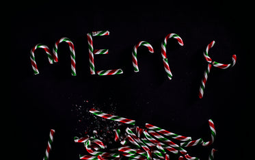 Picture of Candy Canes Spell Merry — Free Stock Photo