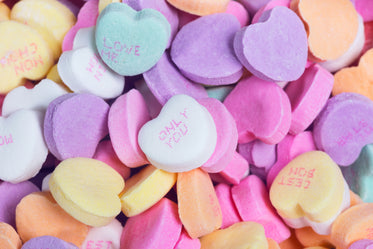 candy hearts pile