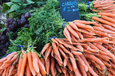 carrots for sale at market