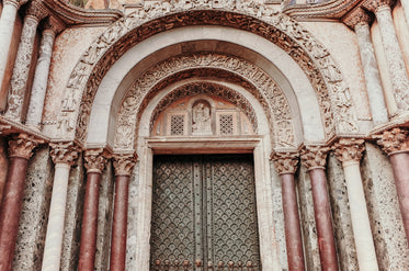 carved marble arched doorway
