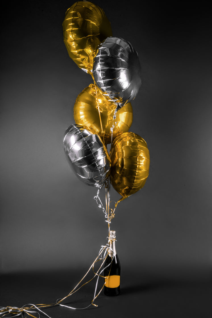 Celebrate With Champagne And Balloons