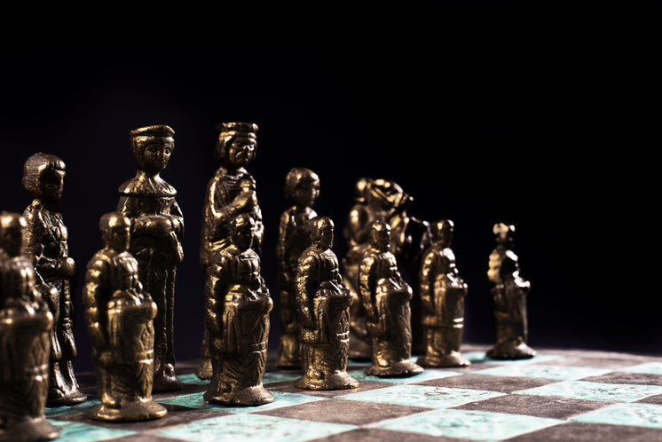 Chess Pawns Lined Up