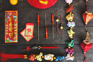 chinese new year flatlay