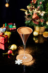chocolate cocktail in a festive setting