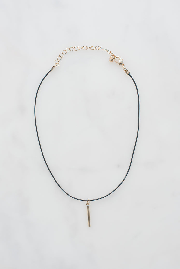 Choker With Gold Pendant