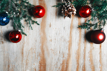 Browse Free HD Images of Christmas Decor On Woodgrain