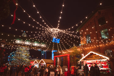 Browse Free HD Images of Christmas Market At Night