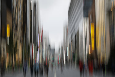 city scene captured in motion