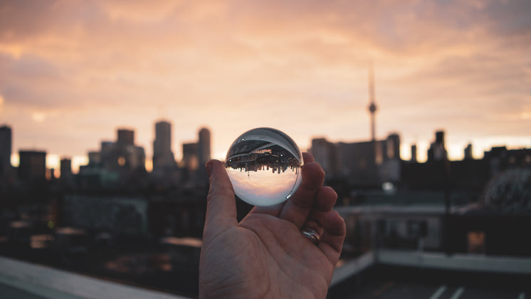 City Through Glass Ball