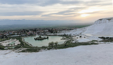 city view from thermal pools in turkey