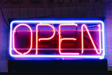 classic neon open sign