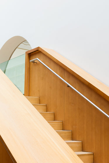 clean interior design of staircase