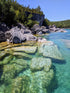 Browse Free HD Images of Clear Lake Water By Escarpment Cliffs