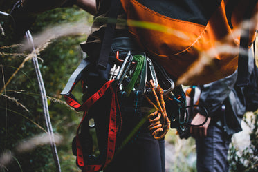 Picture of Climbers Backpack Caribiners - Free Stock Photo
