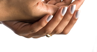 close up cupped hands