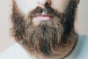 close up of a beard on the bottom of a persons face