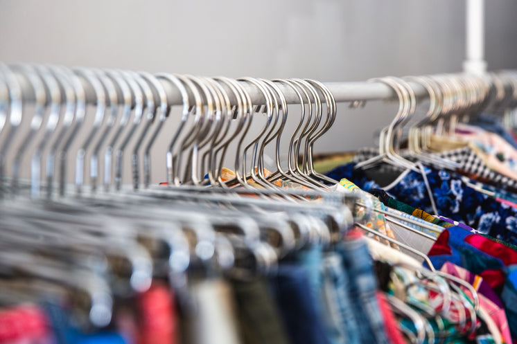 Close Up Of Clothing Hangers