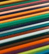 close up of colored pencils lined up