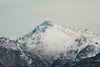 close up of vast snowcapped mountain