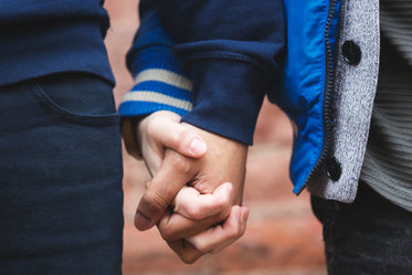 close up on couple hands