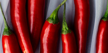 close up on spicy hot peppers