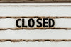 closed sign shown at roadside