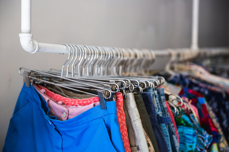 Clothes Hung Up On Retail Display