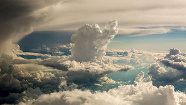 cloudy sky from above