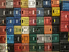 colorful crate wall