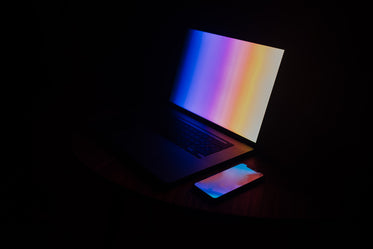 colorful laptop wallpaper and phone