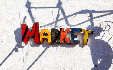 Picture of Colorful Market Sign — Free Stock Photo
