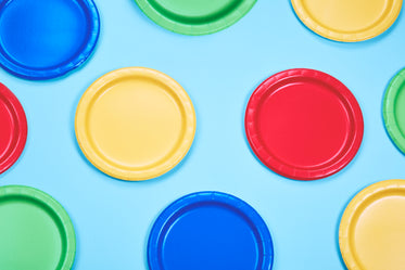colorful party plates